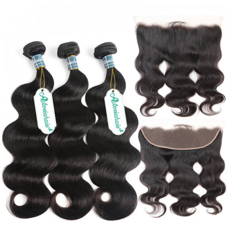Bundles With Frontal Body Wave Hair