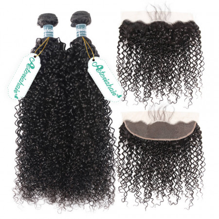 Curly Hair Bundles With Frontal
