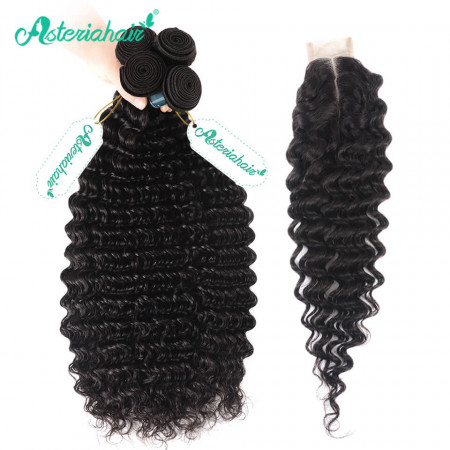 Deep Wave Weaves With 2*6 Closure