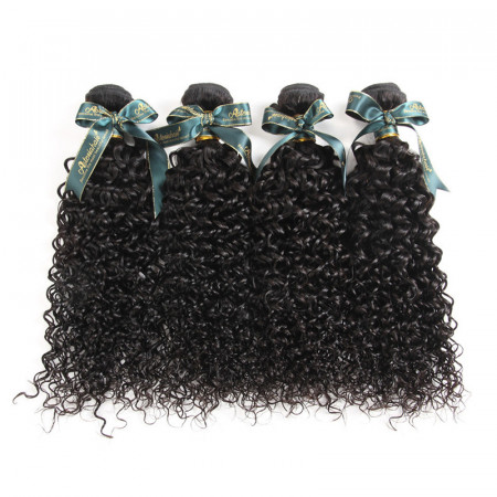 Brazilian Curly Hair Extensions Brazilian Virgin Human Hair 4 Pcs/Pack