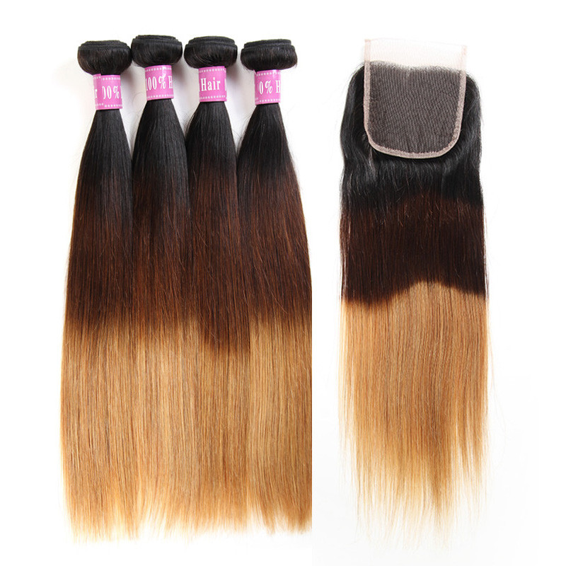 Ombre color 1b427 straight human hair weave 4 bundles with 44 straight human hair weave 4 bundles pmusecretfo Choice Image