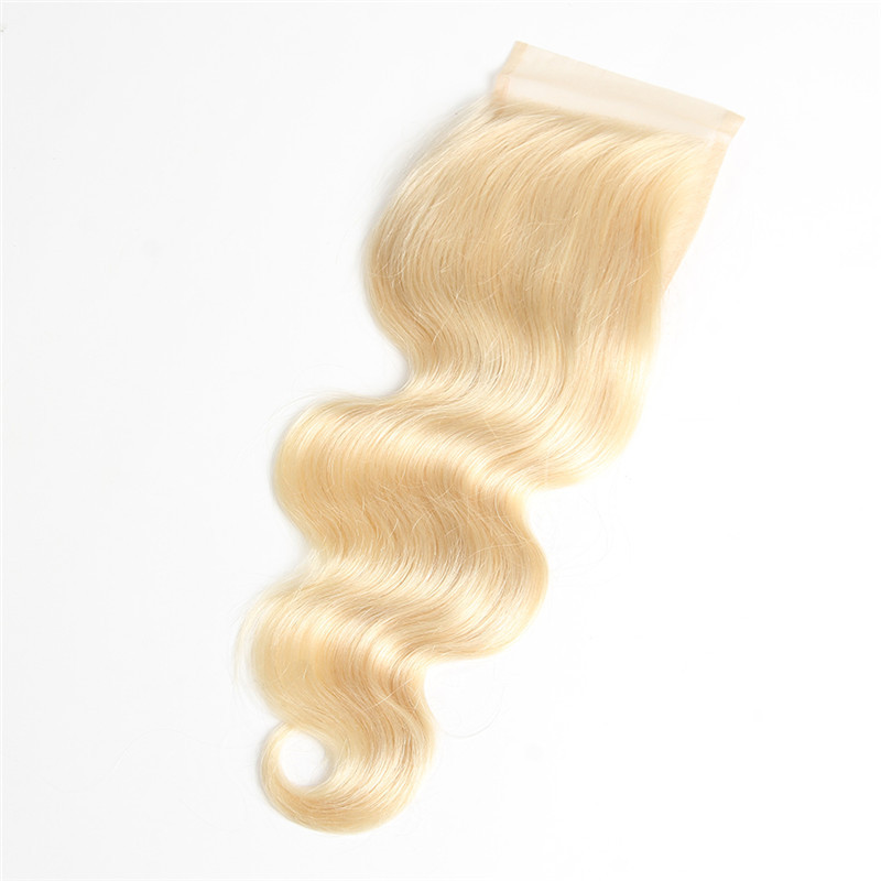 100 Brazilian Virgin Hair Body Wave 613 Blonde Lace