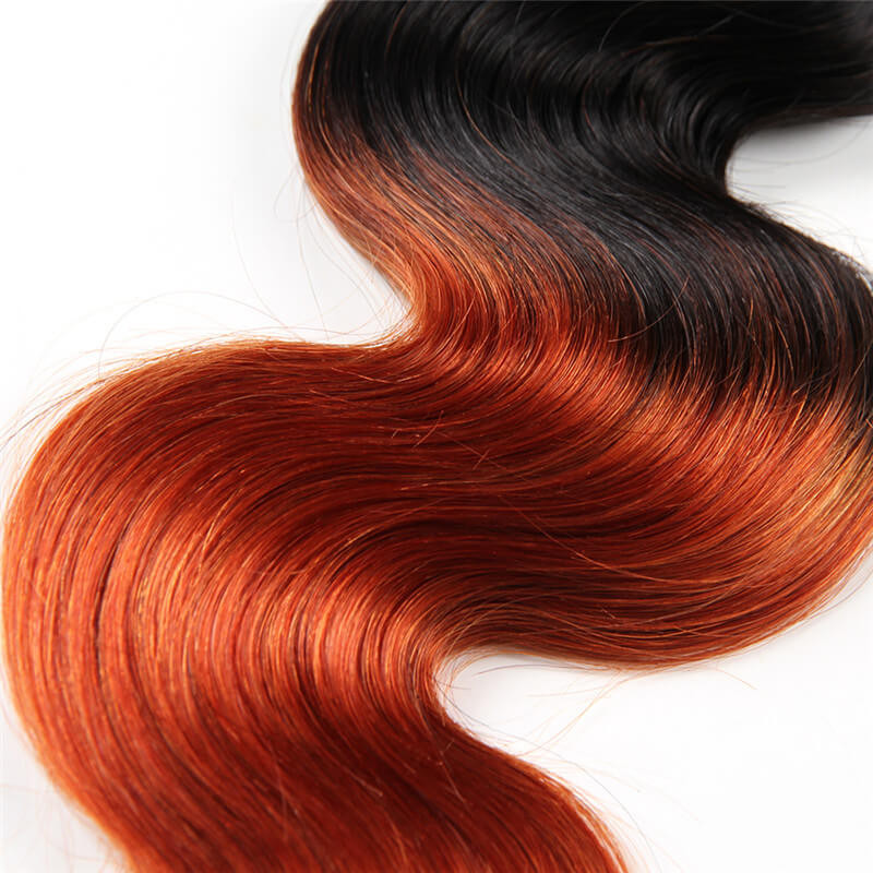 ombre hair color 1b 350 body wave weave real virgin human hair 3