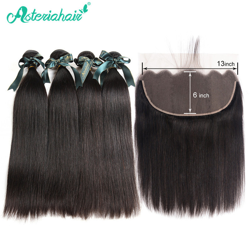 Brazilian Straight Human Hair Weave 4 Bundles With 136 Ear To Ear