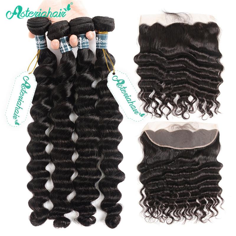 8a Unprocessed Brazilian Human Hair Weave 4 Bundles With 134 Lace