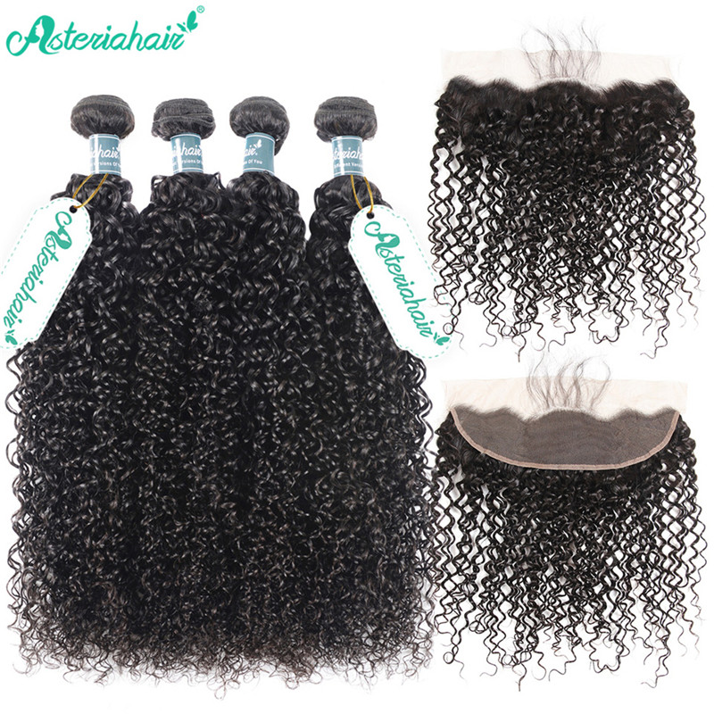 8a Unprocessed Brazilian Human Curly Hair Weave 4 Bundles With 134