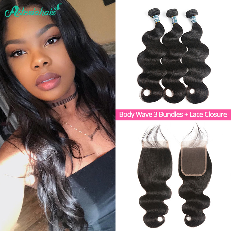 Virgin Hair Body Wave 44 Lace Closure And Virgin Brazilian Hair