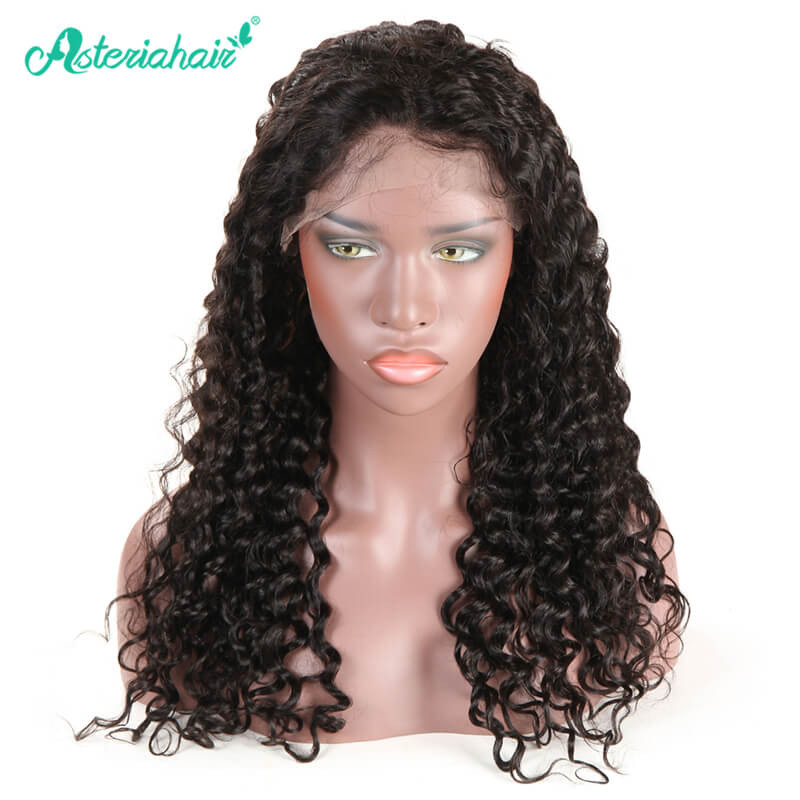 3304012f659 Deep Wave Lace Front Wigs Natural Black 130%-250% Density