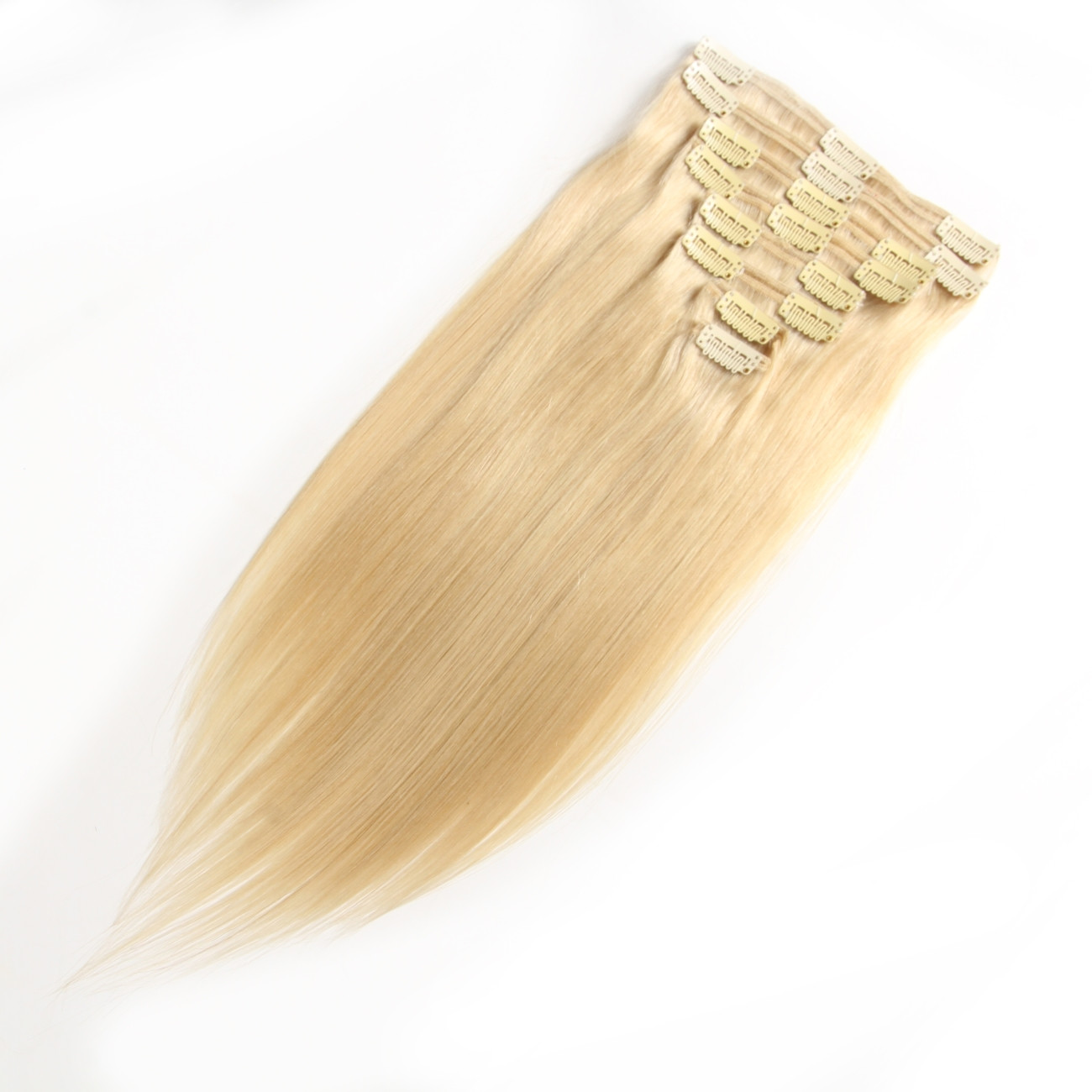 100 Virgin Light Color Clip In Hair Extensions Best Clip In Hair On