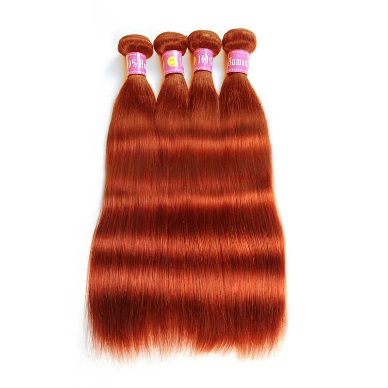 Ombre 350 Color Straight Human Hair Weave 4 Bundles On