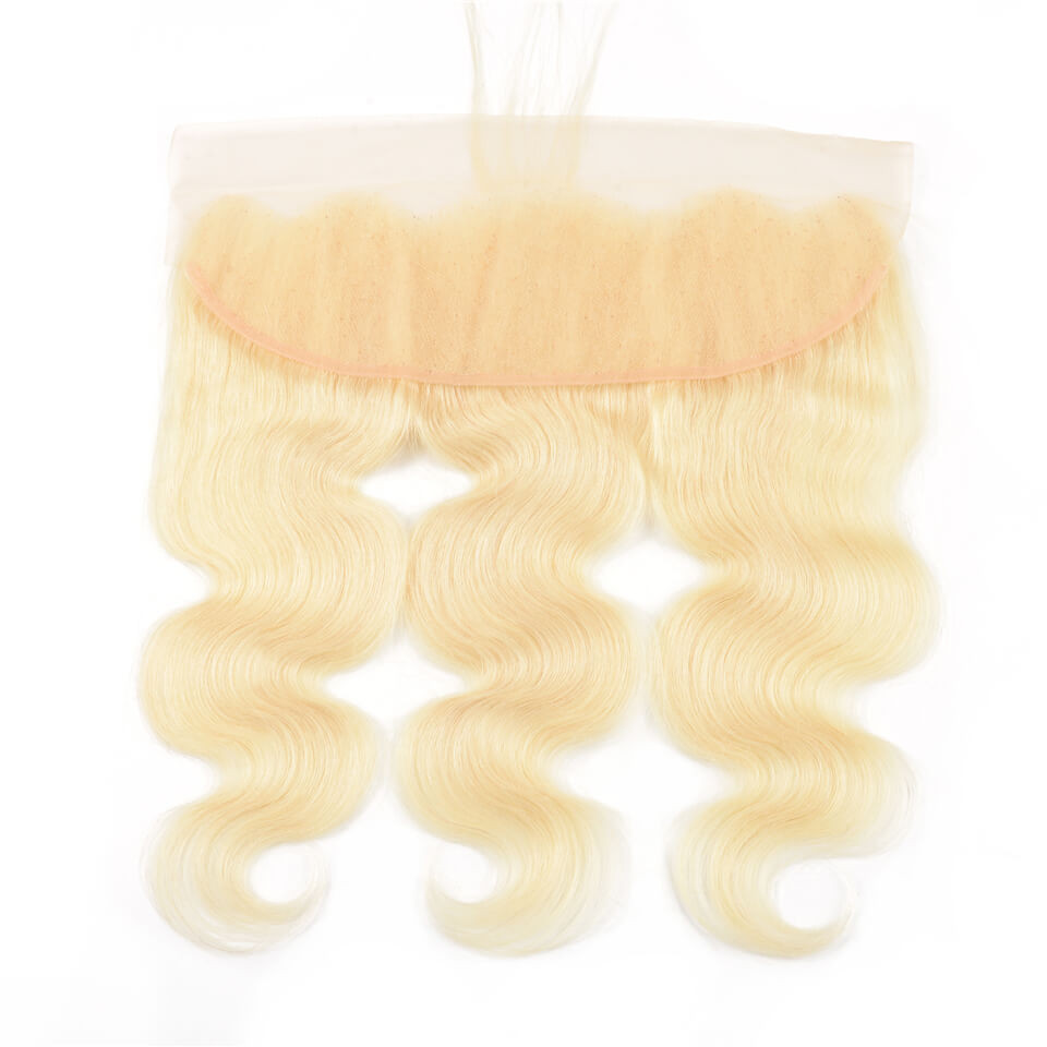 613 Body Wave Weave Bundles With 13 4 Blonde Lace Frontal
