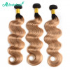 Ombre Human Hair 1B/27 Color Body Wave 3 Bundles Human Hair Weave