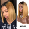 8-14inch Short Human Hair Colored Bob Wig