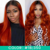 Ombre Colored Human Hair 4x4 Lace Closure Wigs