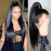360 Lace Frontal Wigs Virgin Straight Hair Affordable Real Hair Wigs 180% Density