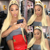 Blonde Full Lace Wig #1b/613 Hair Color Blonde Ombre Wig