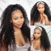 Deep Wave Headband Wigs Human Hair Wig