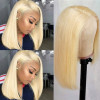 Bob Wig Blonde Hair Color  Lace Closure Wig