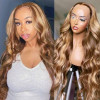 Piano Mixed Color T-shape 13x5 Lace Part Wigs