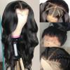 Virgin Human Hair Body Wave 360 Lace Frontal Wigs 180% Density