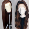 Brown Color Hair Human Hair Lace Wigs Chocolate Hair Color Wigs For Women