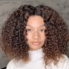 Human Hair Curly Wave Short Bob Wigs Virgin Hair Lace Front Wigs