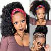 Curly Headband Wigs Human Hair Half Wigs