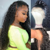 Jerry Curly 360 Lace Frontal Wigs Ponytail Wig