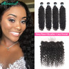 Human Hair Weaves 4 Bundles Brazilian Deep Wave And 13*4 Lace Frontal Closures