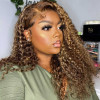 #P4/27 Highlighted Color Deep Wave Lace Front Wigs