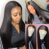 "6x6 Closure Wig Long Straight Wigs 26""-40"" Long Human Hair Wig"