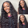 Virgin Hair Loose Deep 4*4 Lace Closure And Virgin Brazilian Hair Weave 3 Bundles