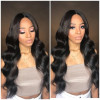 Middle Part Wigs Body Wave 2x6 Closure Wigs For Women