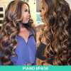 Piano Colored Hair Highlight Lace Wigs For Women