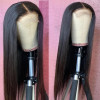 Straight 4*4 Human Hair Lace Front Wigs 180% Density