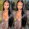 Straight Brazilian Natural Black Lace Front Wigs
