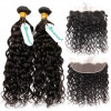 Wet Wavy Hair Weaves 2 Bundles With 13x4 Frontal