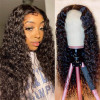 Water Wave Hair Middle Part Wigs T-shape 13x4 Lace Part Wigs