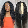 Water Wave Hair Middle Part 2x6 Closure Wigs For Women