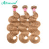 Asteria Honey Blonde 3 Bundles #27 Color Body Wave Hair Weaves