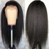 Yaki Hair Lace Front Wig Kinky Straight Human Hair Wigs 130-200% Density