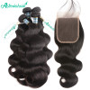 4 Bundles Brazilian Virgin Hair Body Wave With Lace Closure 4x4 Inch