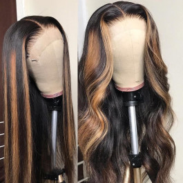 Highlights Human Hair Lace Wigs For Women