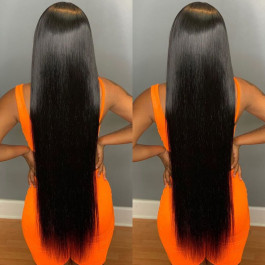16-40inch Long Straight Lace Front Wigs Human Hair For Women
