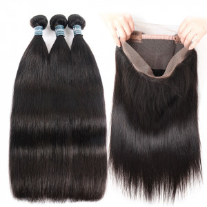 Straight Hair With Bundles