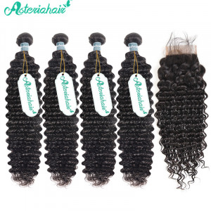 4 Bundles Deep Wave Brazilian Hair