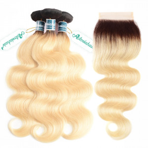 1b/613 Blonde Bundles With Closure