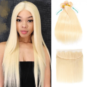 613 Blonde Weaves With Frontal