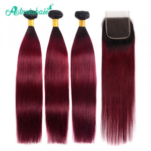 Ombre Straight Brazilian Hair 3 Bundles
