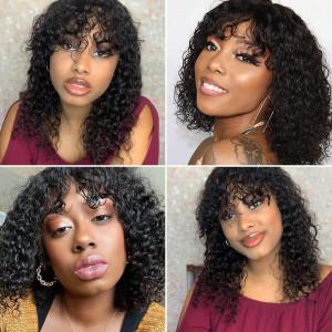 bang wigs curly